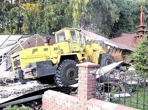 Разрушение самовольного строительства